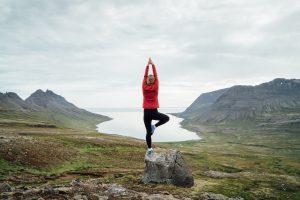 Vaida doing some fjord meditation