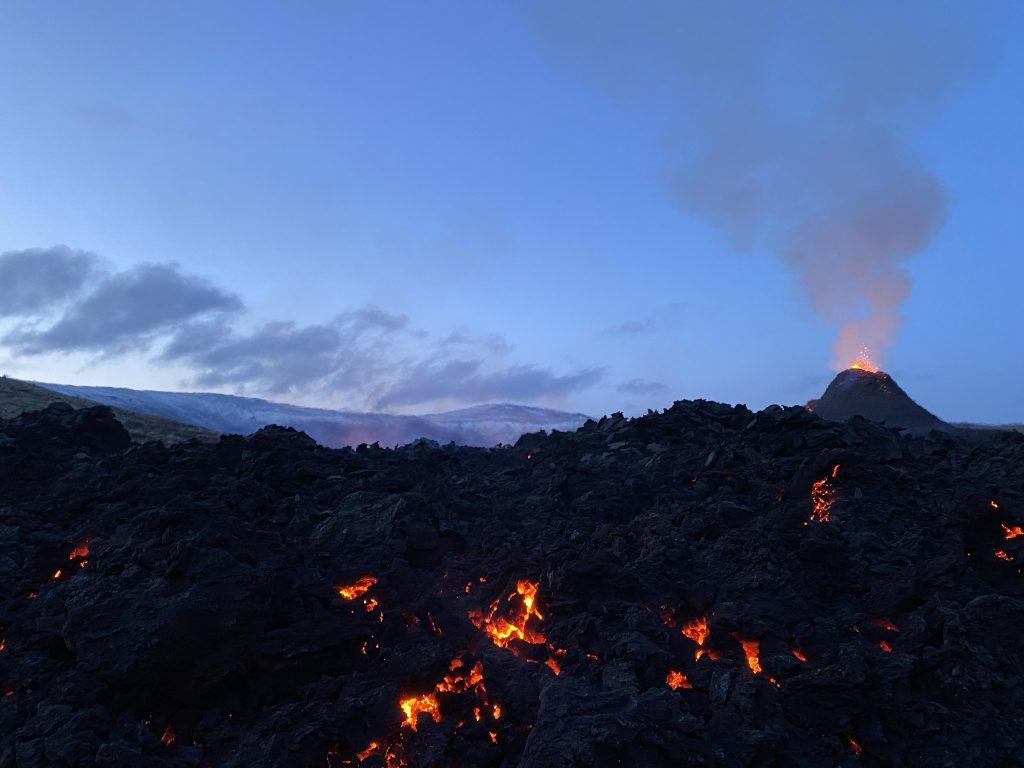 Volcano eruption in Iceland