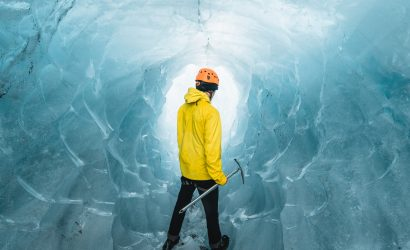 Natural Ice cave, glacier ice cave