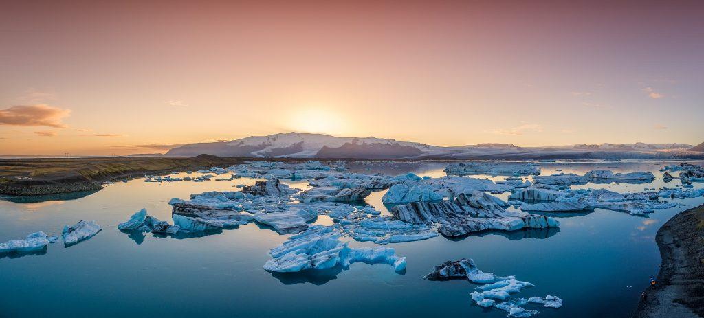Glacier lagoon in Iceland, jökulsárlón